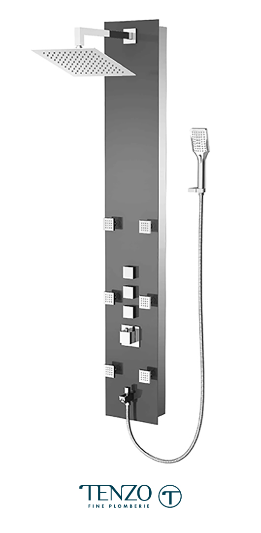 TZG1-XX-SL-SX - Shower columns - Tempered Glass, 3 functions