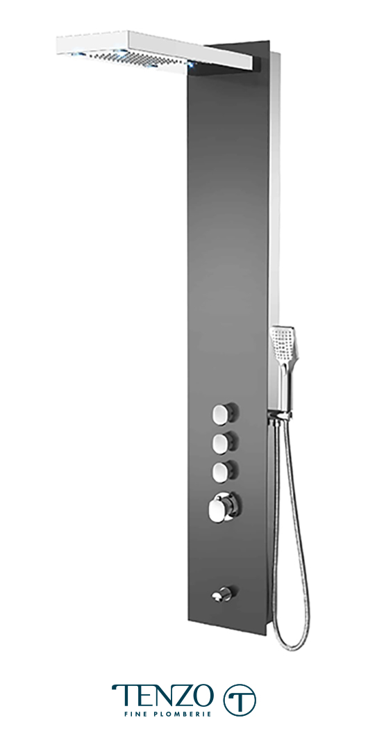 TZG11-XX-FL-3L - Shower columns - Tempered Glass, 3 functions