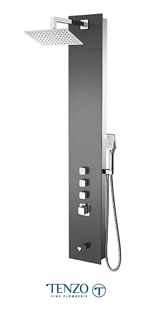 TZG11-XX-QU-S812 - Shower columns - Tempered Glass, 3 functions