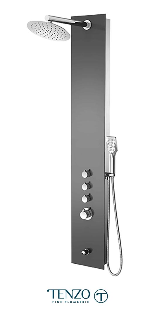 TZG11-XX-RU-SX - Shower columns - Tempered Glass, 3 functions