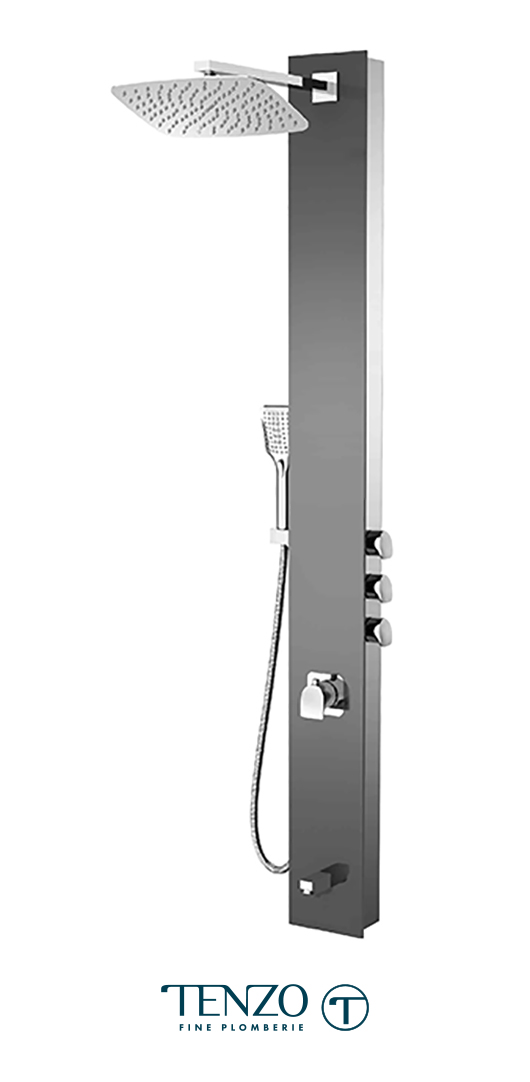 TZG12-XX-NU-SX - Shower columns - Tempered Glass, 3 functions