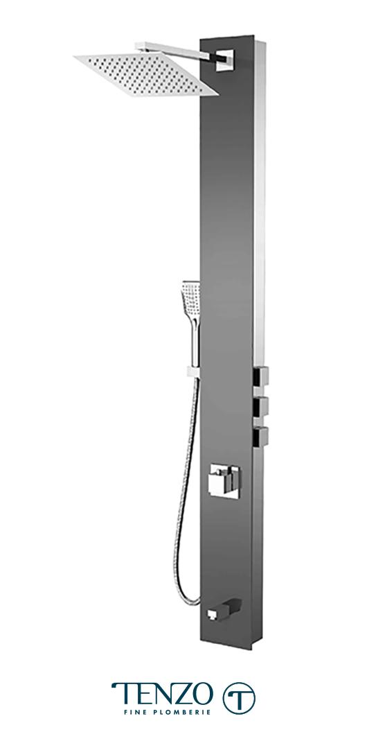 TZG12-XX-SL-SX - Colonne de douche - Verre trempé, 3 fonctions, Slik