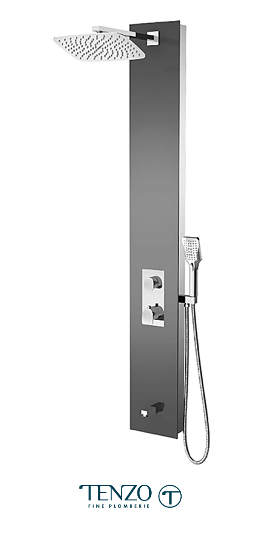 TZG13-XX-NU-SX - Shower columns - Tempered Glass, 3 functions