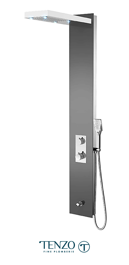 TZG13-XX-RU-3L - Shower columns - Tempered Glass, 3 functions