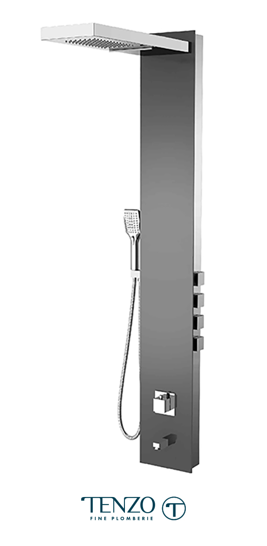 TZG14-XX-SL-4 - Shower columns - Tempered Glass, 4 functions
