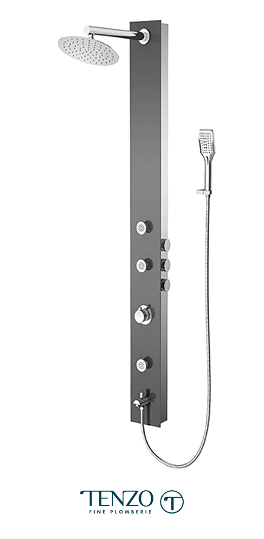 TZG2-XX-RU-SX - Shower columns - Tempered Glass, 3 functions