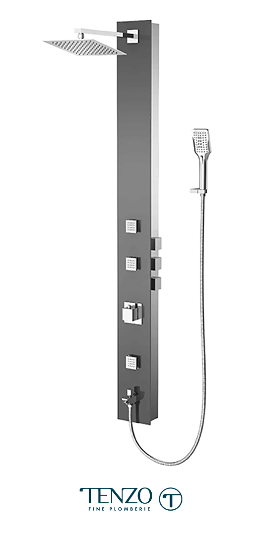 TZG2-XX-SL-SX - Shower columns - Tempered Glass, 3 functions