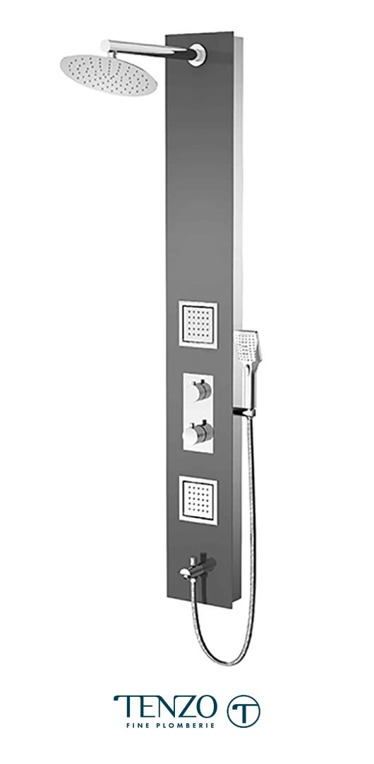 TZG3-XX-RU-SX - Shower columns - Tempered Glass, 3 functions