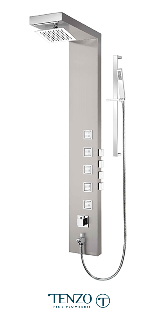 TZST-08.1 - Shower columns - Stainless Steel, 4 functions