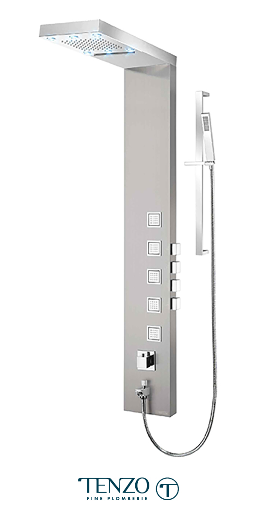 TZST-08.1L - Shower columns - Stainless Steel, 4 functions