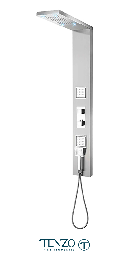 TZST-13L - Shower columns - Stainless Steel, 3 functions