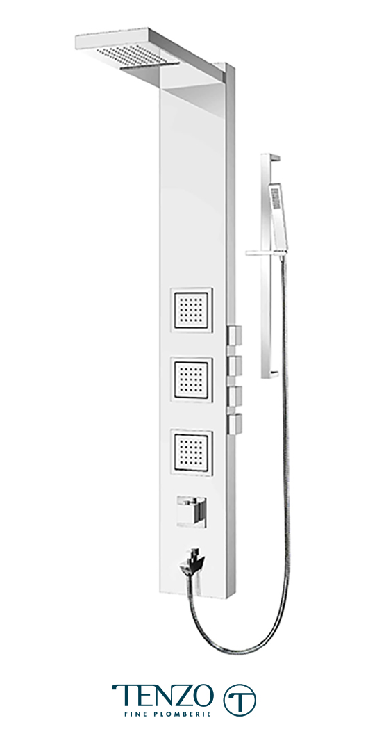 TZSTC-17 - Shower columns - Stainless Steel, 4 functions