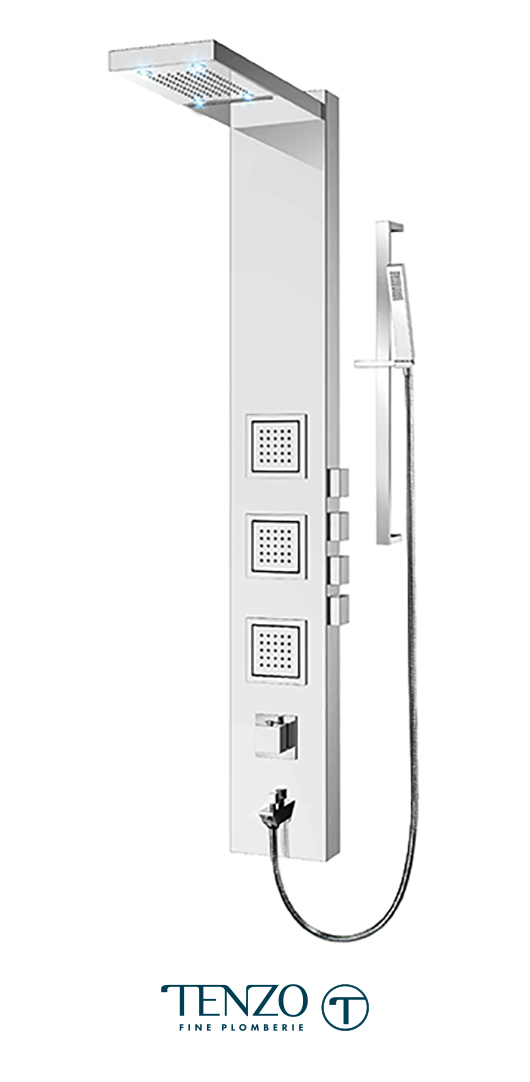 TZSTC-17L - Shower columns - Stainless Steel, 4 functions