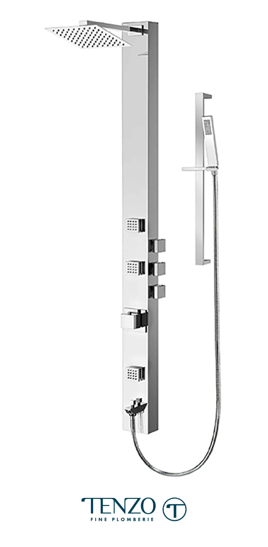 TZSTC-18-SX - Shower columns - Stainless Steel, 3 functions